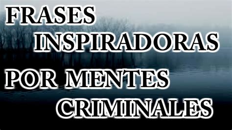 frases de mentes criminales en espaol frases inspiradoras por mentes criminales youtube