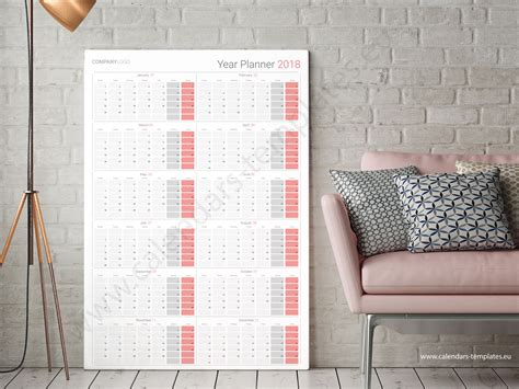 printable daily wall calendar daily calendar 2018 template large wall vertical planner