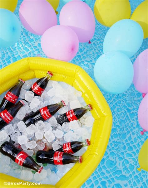 pool party ideas summer pool party ideas coke float station party ideas