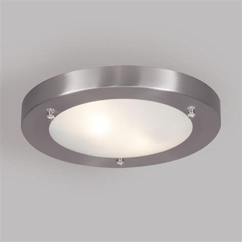 stainless steel bathroom light fixtures mari bathroom ceiling large flush light satin nickel