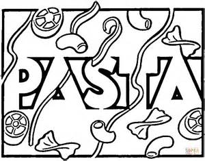 Italian Pasta Coloring Page Free Printable Coloring Pages Pasta Coloring Pages