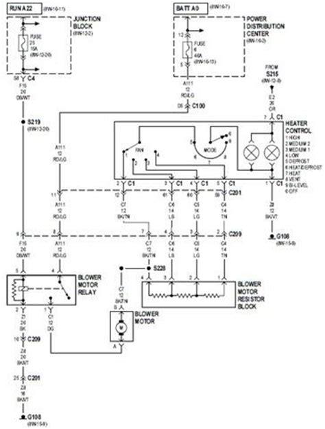 wiring schematic diagram 2000 jeep heater