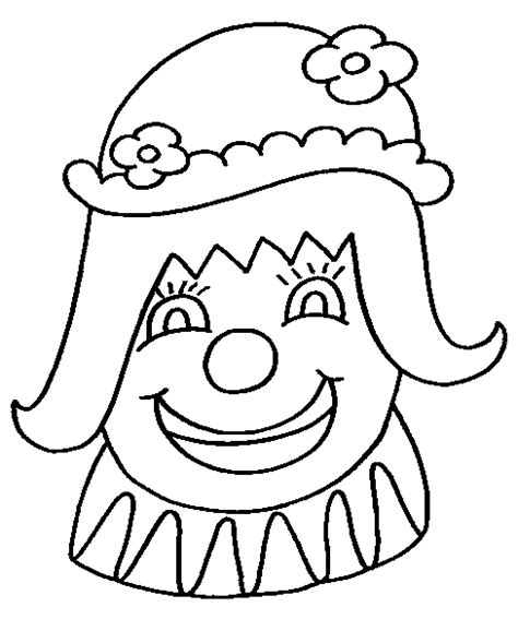 clown face coloring pages