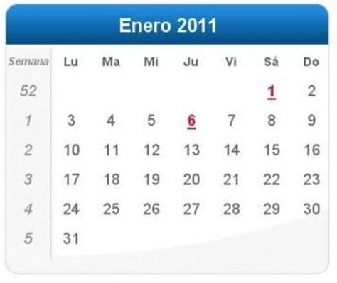 calendario del contribuyente enero 2011 calendario enero 2011 definanzas com