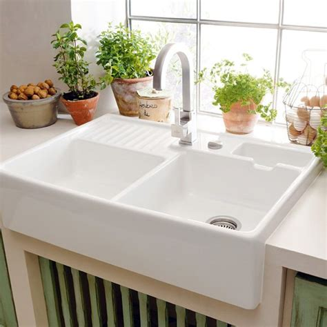 double ceramic kitchen sink butler double bowl ceramic kitchen sink just bathroomware