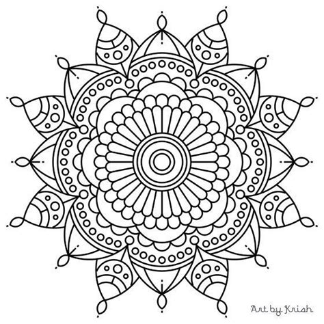 easy mandala coloring pages for adults easy adult coloring pages mandala printable adult