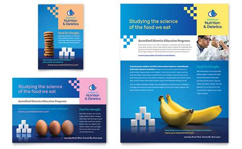 advertising templates dietitian flyer ad template design
