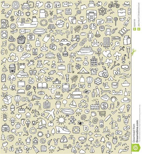 how to use doodle to set up a meeting doodle icons set no 2 royalty free stock photo image