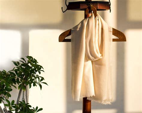 pashmina wool scarf beige kop 225 i paar indian craft store