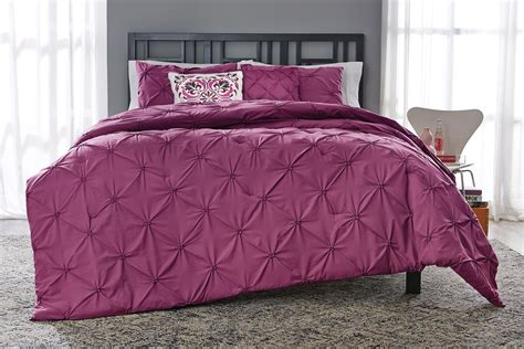 pintuck comforters essential home 5 piece comforter set pintuck purple
