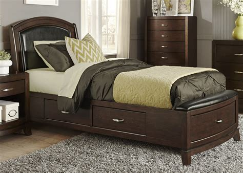 avalon bedroom set avalon truffle youth one sided leather storage bedroom set