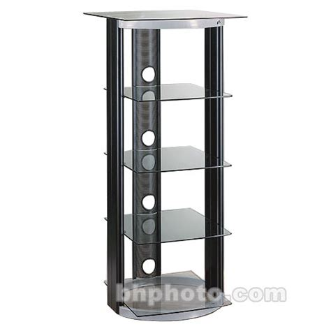 audio video tower cabinet bell o at 2567 4 shelf two tone steel audio tower at2567 b h