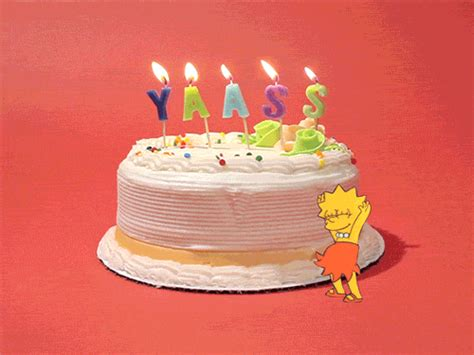 Find By Birthday Happy Birthday Cake Gif By Birthday Bot Find On Giphy