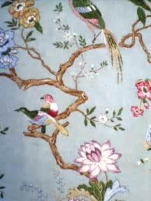 Oriental Design Upholstery Fabric Gp Amp J Baker Oriental Bird Chinoiserie Pinterest