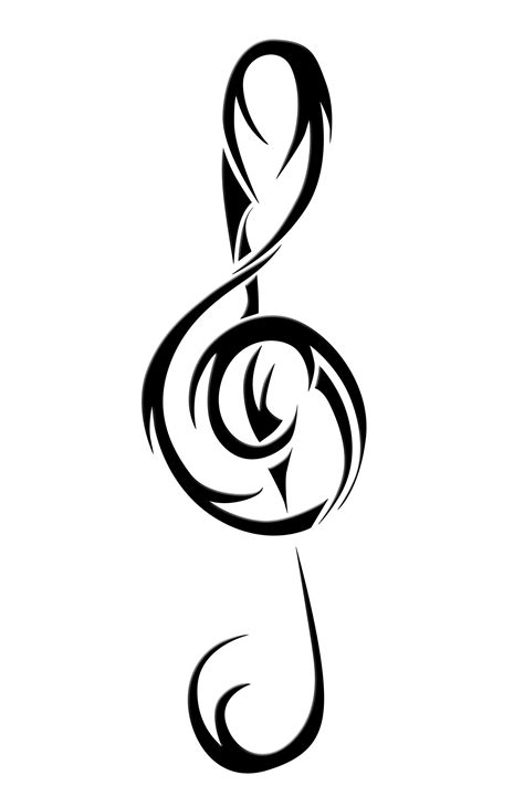 treble clef tattoo designs cliparts co