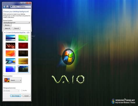 vaio themes for windows 7 free download sony vaio windows 7 theme download