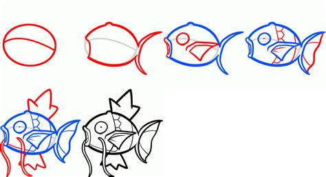 how to draw magikarp