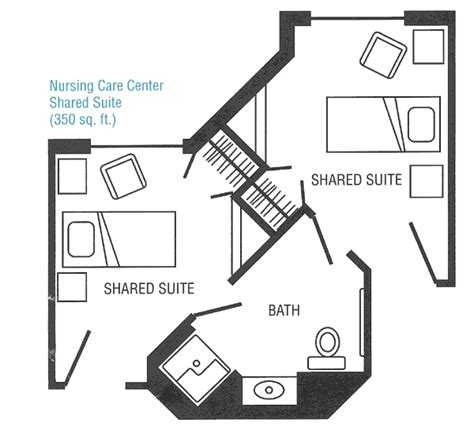 nursing home hospital floor plans spreads