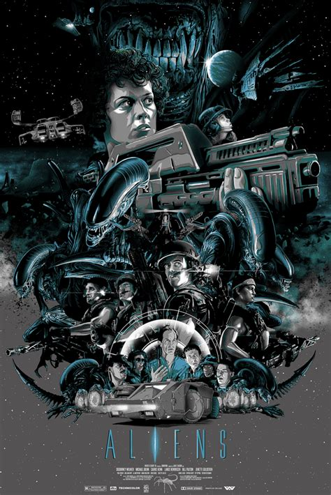 the movie art of cool geek film poster art for aliens the martian the lost boys and more geektyrant