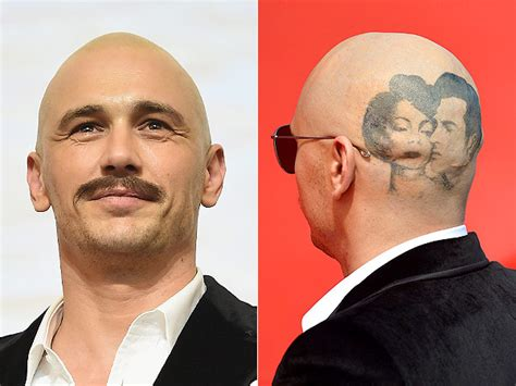 james franco tattoos photos franco shaves franco