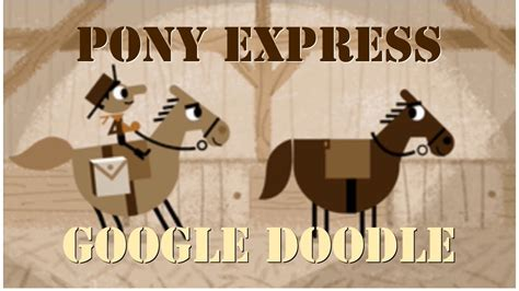 play doodle pony express when was the mail delivered via the pony express