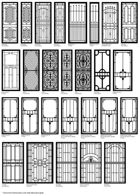 Decorative Aluminium Security^ Doors  Bulleen Screens