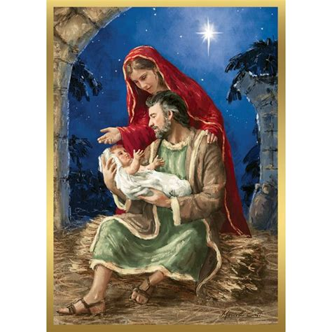 Holy Family Cards - rejoicing holy family cards joseph and