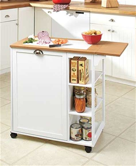 Kitchen Cart With Trash by Drop Leaf Kitchen Cart With Garbage Bin The Lakeside
