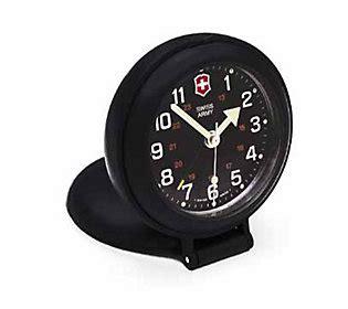 swiss army brands travel alarm clock black qvc