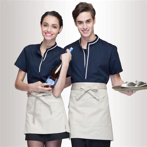 blue waitress wholesale retail checkedout custom logo chef uniforms men