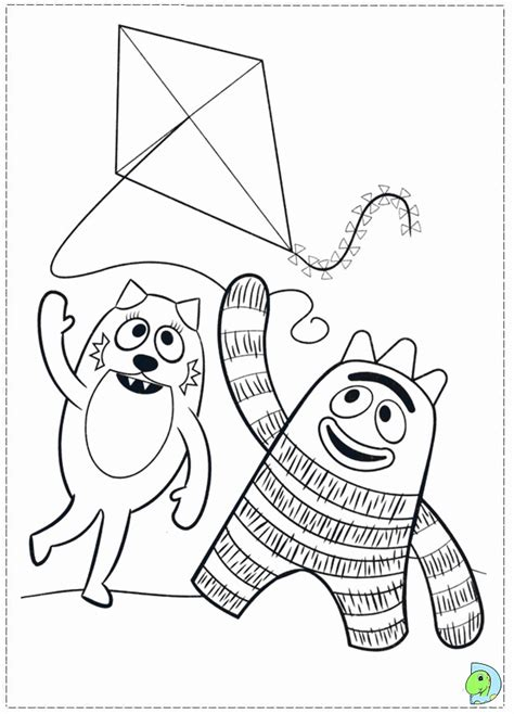 yo gabba gabba coloring pages free printable yo gabba gabba coloring sheets az coloring pages