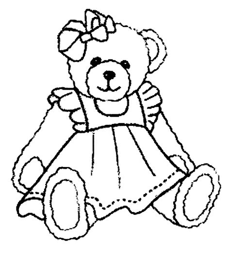 teddy bear free coloring pictures coloring kids free