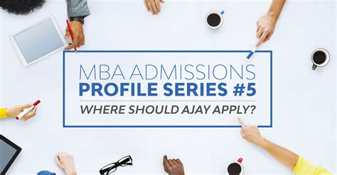 Mba Prerequisites by Which B Schools Should Ajay Apply To