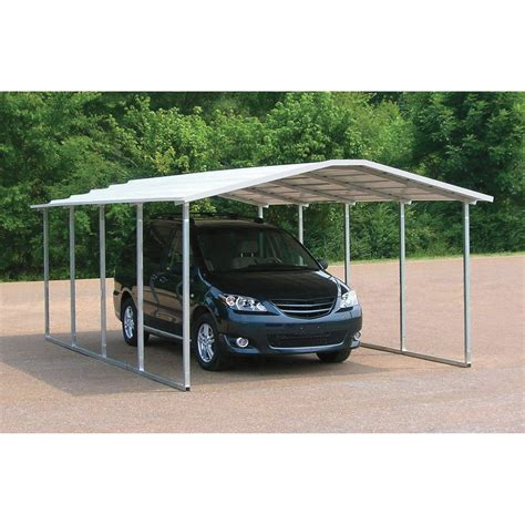 Metal Roof Car Shelter by Versatube Steel Carport Shelter 20ft L X 12ft W X 6ft H
