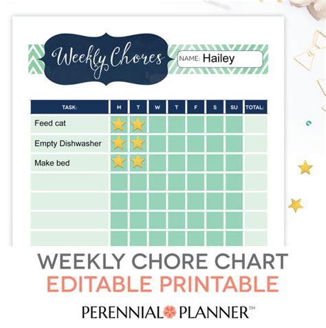 printable editable reward charts chore chart printable editable pdf kids weekly reward task