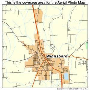 aerial photography map of winnsboro la louisiana