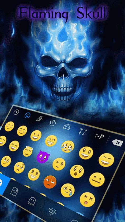 kika keyboard themes download flaming skull kika keyboard free android keyboard download