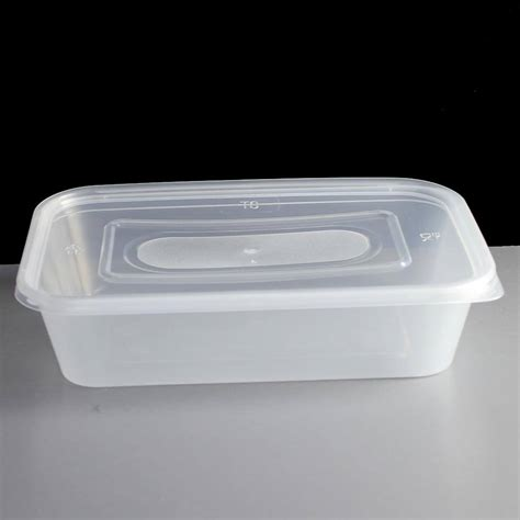 500cc plastic takeaway container and lid