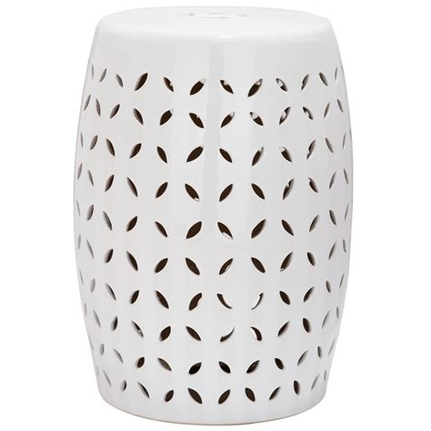 Garden Stool by Shop Safavieh 18 5 In White Ceramic Barrel Garden Stool At