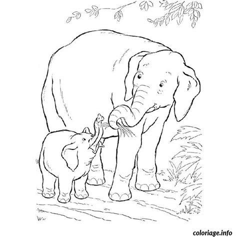 Coloriage Elephant Savane Dessin
