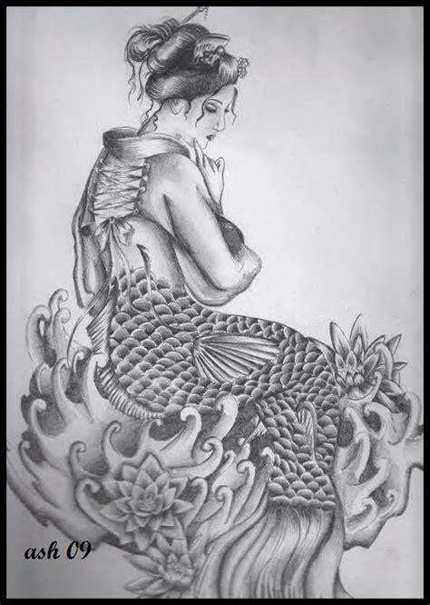 geisha mermaid by ashleapoole on deviantart
