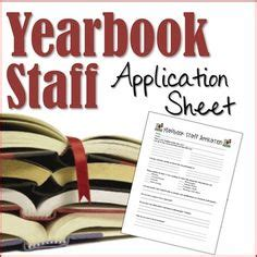 Yearbook Applications Yearbook Staff Application And Parent Student Contract