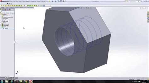 solidworks tutorial nut solidworks modelling of m10 nut a simple demo youtube