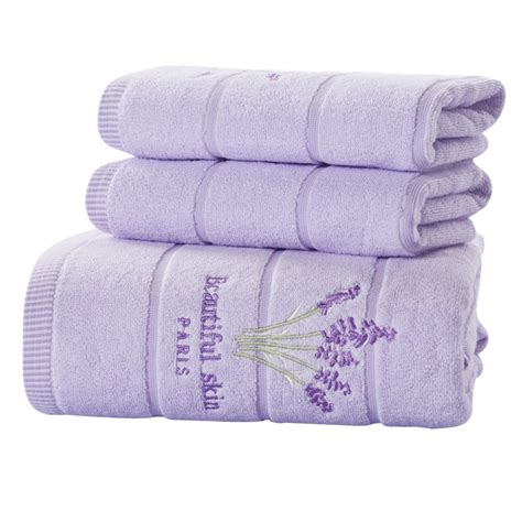 bathroom towels sets new 2016 lavender towel set 100 cotton bath towel sets