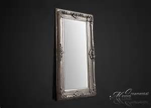 large silver floor mirror large silver wall mirror