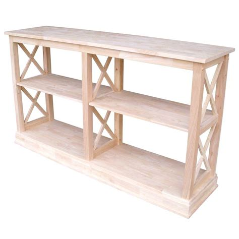 Unfinished Console Table International Concepts Hton Unfinished Console Table Ot 70sl The Home Depot