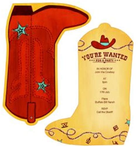 free templates for cowboy invitations cowboy free printable birthday party invitations