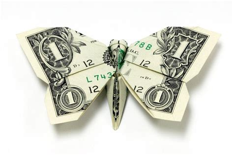 Money Origami Butterfly - excellent exles of dollar bill origami digital