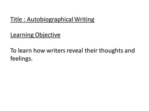 autobiographical writing by johncallaghan teaching autobiographical writing by johncallaghan uk teaching