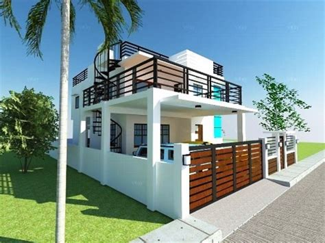 house plans with roof deck terrace modern 2 storey w roofdeck house designer and builder